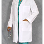 3187 Unisex Plain Back Lab Coat
